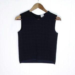 Armani Collezioni Black Sweater Vest Tank